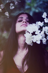 Lucid dream. (Bhumika.B) Tags: light necklace red hair flowers art canono photography india world jaw lips dream lucid