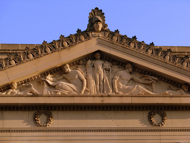 Shelby County Courthouse Pediment Carving 1 - Memphis, TN