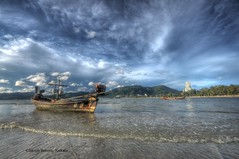 (Sanjib Behera) Tags: blue beach clouds thailand boat serene phuket touristdestinations flickraward