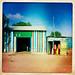 Color Stripe Corrugated Iron House In Baligubadle thru Iphone Hipstamatic - Somaliland