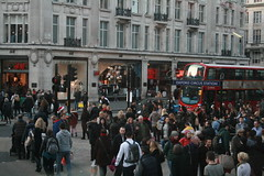 Crowded Oxford Circus