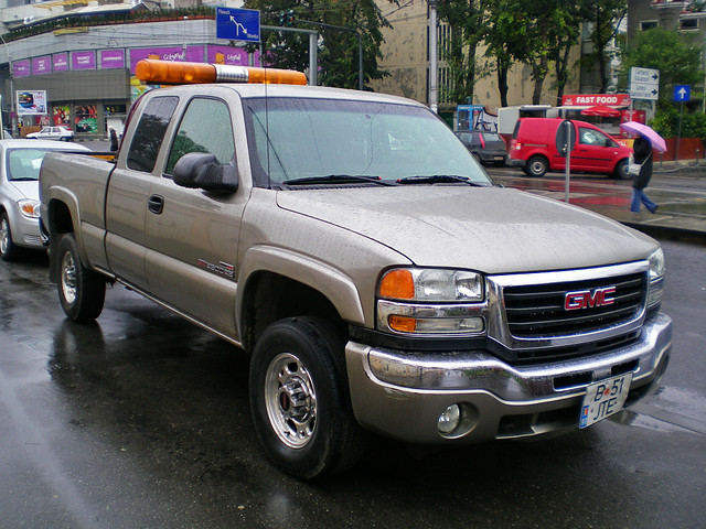 road usa up truck grey off sierra american romania pick bucharest gmc 2500hd