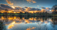 Winter lake (James Waghorn) Tags: winter light sunset england sky sun lake tree clouds countryside kent nikon sigma ultrawide hdr lightroom finegold sigma1020 d5000 hdraddicted blinkagain fineplatinum bestofblinkwinners blinkagainsuperstars finediamond