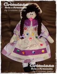 BONECA SARAH (Cricoisas Arte e Artesanato) Tags: doll pano craft criana boneca patchwork tecido bonecadepano maenina cricoisas artesanatocapixaba crislainegodoy handmadefrombrazil