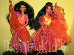 Gypsy Dancing Esmeralda by Mattel vs Gypsy Dancing Esmeralda by DisneyKid96 (DisneyKid96 (moved to new account)) Tags: doll disney mattel esmeralda handmadeclothes thehunchbackofnotredame gypsydancingesmeralda