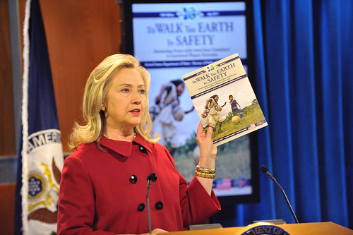 Secretary Clinton Delivers Remarks at Release of 10th Edition of .To Walk the Earth in Safety. Report