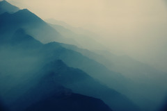 Somewhere in Between #3 - Morning Fog (lukas kozmus) Tags: morning nepal mist mountain mountains fog airplane photography photo foto fotografie nebel sony hill flight picture pic hills berge lukas dust alpha bild 700 flugzeug morgen flug hgel 2011 a700 ourmasterpieces kozmus lukaskozmus