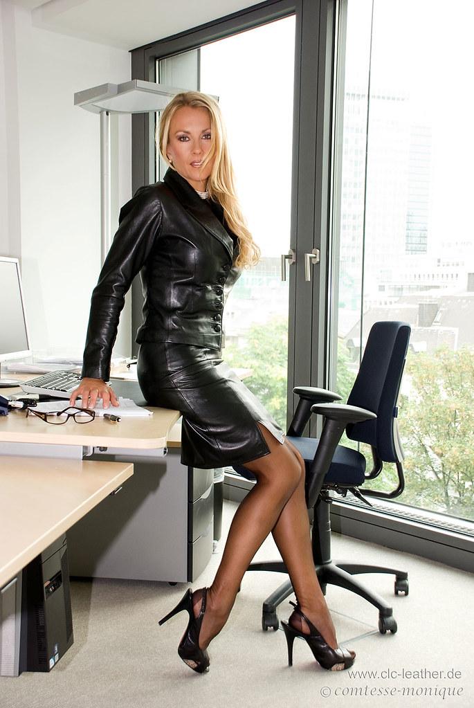 Scandal! black shiny pantyhose heels skirt opinion