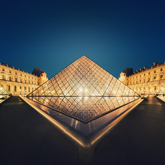 Squared Diamond (Philipp Klinger Photography) Tags: trip travel blue light shadow vacation sky urban orange holiday paris france reflection water glass lines yellow museum architecture square gold golden nikon europa europe long exposure ledefrance pattern angle pyramid louvre geometry tripod wide perspective wideangle symmetry line diamond hour bluehour philipp iledefrance ultra squared klinger ultrawideangle d700 dcdead