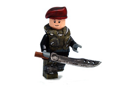 Elite Mercenary ([N]atsty) Tags: paint lego awesome battle sword minifig custom scar bf minifigure brickforge
