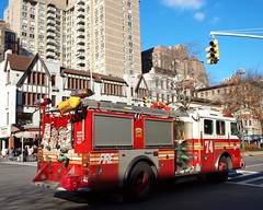 E074e FDNY Engine 74, Upper West Side, New York City (jag9889) Tags: county city nyc ny newyork west station truck fire manhattan side broadway engine company upper upperwestside borough 74 fdny department firefighters engine74 seagrave bravest 2011 e074 y2011 jag9889