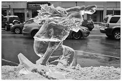 Ice Sculpture Festival (dibytes) Tags: winter blackandwhite downtown december collingwood monochromatic nik icesculpture silverefexpro2 3652011