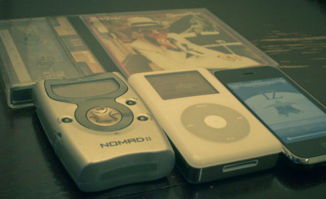 The evolution of music: mix tapes, CDs, mp3, mp4