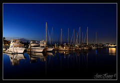 Reflections after Sunset Bradenton-Florida (Javier Huanay) Tags: light luz night marina atardecer nikon florida twin dolphins javier bradenton reflextions d7000 huanay
