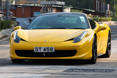 Ferrari 458 Italia, Tai Mei Tuk, Hong Kong (Nikhil Sadhwani - Photography) Tags: china road morning money black cars car yellow metal speed canon photography hongkong eos drive photo amazing cool movement automobile shiny asia flickr doors ride awesome flash snapshot wheels rich machine fast snap voiture explore exotic transportation stunning vehicle driver motor hyper expensive streetcar quick limited luxury rare exclusive supercar automobiles spotting sar motorized exotica horsepower driven fastcar luxurycar motorcar smd accelerate taimeituk acceleration 600d hypercar worldcar worldcars sundaymorningdrive highvalue ferrari458italia photos2012 gt458