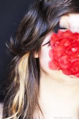 Blooming (ChelseyLeBlanc) Tags: portrait flower self project redflower blooming 52weeks