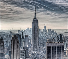 New York City from the Rockefeller Center (rexboggs5) Tags: newyorkcity rockefellercenter empirestatebuilding hdr flickrchallengegroup flickrchallengewinner thepinnaclehof kanchenjungachallengewinner thepinnacleblog compstp1201fcg tphofweek140