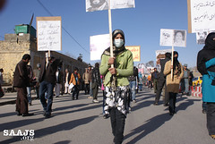 Protest of SAAJS in Kabul on Human Rights Day (SAAJS) Tags: usa afghanistan demo persian justice women protest human rights afghan kabul nato victims occupation farsi  criminals     saajs  justiceseekers