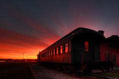 Port Huron Rail (Notkalvin) Tags: sunset train michigan depot stclairriver bluewaterbridge porthuron thomasedisonmuseum mikekline michaelkline notkalvin takingpictureswiththefamily notkalvinphotography
