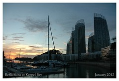 Reflections at Keppel Bay (Samsul Adam) Tags: homes sunset sea water marina reflections boats bay daniel property architect caribbean libeskind sentosa straits condominium keppel keppelbay caribbeanatkeppelbay reflectionsatkeppelbay marinaatkeppelbay