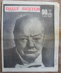 DAILY SKETCH (old school paul) Tags: vintage newspaper winstonchurchill frontpage 1965 dailysketch