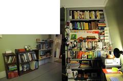 annotated bookshelf (jessamyn) Tags: home me reading books bookshelf annotatedbookshelf
