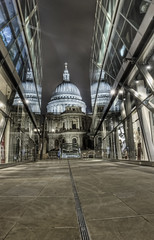 St Pauls in triplicate (odin's_raven) Tags: reflection london st night cathedral pauls stpaulscathedral hdr