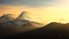 Hope (Zolashine) Tags: nepal sunrise trekking landscape hope dawn warmth peak himalaya annapurna poonhill machapuchare annapurnahimal pichayaviwatrujirapong