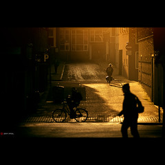 The City Awakes (Jeff Krol) Tags: road street city morning light people bicycle sunrise canon buildings eos dawn golden warm bricks streetphotography special pedestrians reflective awake groningen cinematic f28 70200mm goldenlight 70200l img5557 ef70200mmf28lusm 60d canon60d jeffkrol