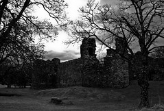 Inverlochy Castle (CNorth2) Tags: uk travel trees bw white black castle canon scotland highlands powershot western inverlochy g11