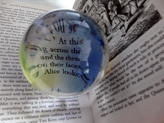Alice in Wonderland (Judy **) Tags: glass ball book boek crystal sphere bol glas kristal 2012 aliceinwonderland crystalball glazenbol kristallenbol 30daysoneobject
