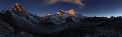 Everest range at sunset (Florent Chevalier) Tags: voyage trip travel nepal mountain canon landscape geotagged asia asie himalaya paysage khumbu himalayas himalaia  summits  himalaja sommets   solokhumbu    himalaje    himalja    himalaji himlaj