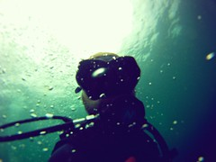 Arnaud diving at White Rock Koh Tao (arnaudvdc) Tags: thailand bubbles diving whiterock kohtao arnaud gopro