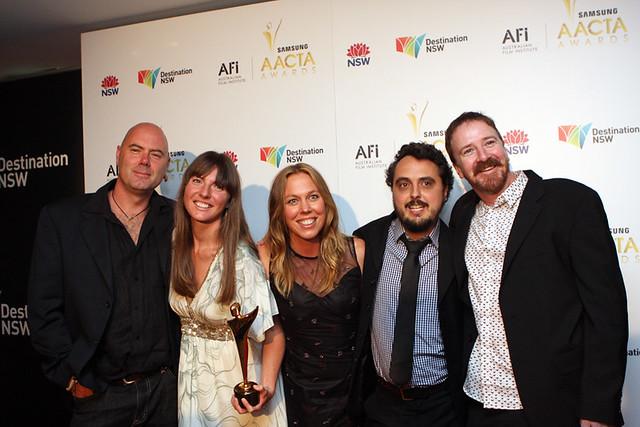 L-R) Daryl Munton, Merrin Jensen, Katrina Mathers, Patrick Sarell and Alister Lockhart