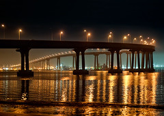 Nighttime (mojo2u) Tags: california bridge night sandiego coronado coronadobridge sandiegobay nikon2470mm nikond700