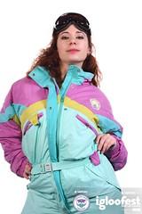 igb1763 (onesieworld) Tags: girls ski sexy bunnies fashion one shiny contest retro suit 80s piece nylon 90s kinky 2012 snowsuit onesie skisuit igloofest