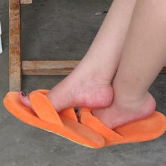 IMG_0621 (beerman17) Tags: orange white feet toe slippers prettyfeet sexyfeet