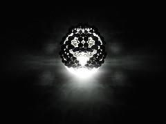 Ghost-shape / smiley (GalaxyTraveler) Tags: shadow sculpture art geometric ghost magnets sphere shape magnet spheres sculptures buckyballs neodymium neodym neocube cybercube zenmagnets nanodots