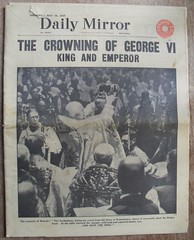 DAILY MIRROR (old school paul) Tags: vintage newspapers frontpage coronation 1937 dailymirror georgevi