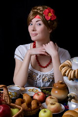 Russian beauty (jelka) Tags: people food woman white black hot flower cup water kitchen girl face metal female breakfast rural vintage easter table person costume hands paint village dress adult tea drink russia folk expression traditional culture lips celebration souvenir ornament national bagel pastry teapot tradition ornate russian isolated saucer samovar ethnicity caucasian