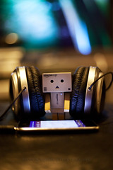 Play That Music D.J (Chaos2k) Tags: winter ontario canada toy ipod dof bokeh mini headphones 2012 northbay danbo ef50mm revoltech danboard canon5dmarkii danbomini brianboudreau 5050project