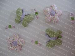 Mbile Flores e Borboletas (Golla & Zolla) Tags: flores cortina flor fuxico patchwork decorao borboletas mbile bebs enxoval patchcolagem floresdetecido patchaplique