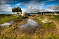 Akropol, Bergama (Nejdet Duzen) Tags: trip travel cloud history nature turkey trkiye ruin izmir harabe bulut pergamum bergama turkei seyahat doa tarih pergamom akropol mygearandme