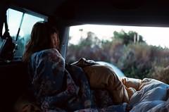 (Maddie Joyce) Tags: ocean california camping friends sea film forest 35mm coast waterfall big surf waves minolta sur redwoods magical campervan