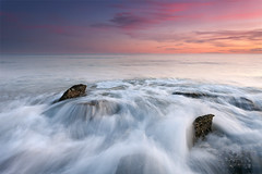 Soft Sunset (DavidFrutos) Tags: longexposure blue sunset sea orange costa seascape beach water rock azul clouds landscape atardecer coast mar interestingness agua rocks soft waves pastel wave playa paisaje explore murcia filter le lee nubes canondslr naranja olas suave roca rocas ola filtro largaexposicin filtros calblanque neutraldensity canon1740mm gnd8 graduatedneutraldensity densidadneutra interesantsimo davidfrutos gnd09 5dmarkii
