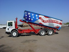 All American Waste Removal Mack MR Galbreath roll-off