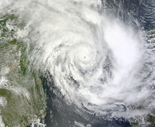 Tropical Cyclone Funso (08S) over the Mozambiq...