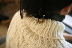 Cuffed in Turtleneck wool sweater (Mytwist) Tags: woman wool girl leather lady female fetish training warm bondage bdsm turtleneck collar submission thick slave dicipline submissive cuffed rollneck woolfetish handgestrickt woolfreaks rollerneck