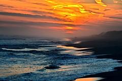 Dark Beach (Darren-) Tags: ocean sunset sea color beach water sand waves longislandny nikond5100 }newyork