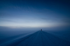 . (Mikko Lagerstedt) Tags: road blue light shadow red mist color detail green art nature colors beautiful field silhouette misty fog night suomi finland dark lens landscape photography photo nikon colorful mood view darkness natural image photos unique fineart nowhere fine foggy award atmosphere lonely mikko waterscape d7000 lagerstedt